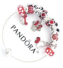 Authentic Pandora Bracelet Disney Minnie Red European Charms Christmas New
