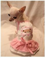 Dog dress/dog t-shirt/dog clothes/Beary Princess dog dress XS,S,M,L FREE SHIP