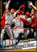 Cincinnati Reds 2020 Topps Decade's Best Series 2 5x7 Gold #DB-77 /10