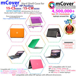 "NEW mCover® Hard Shell Case for 2018 15.6"" HP Pavilion 15-CSxxxx 15-CWxxx laptop"