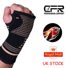 Copper Wrist Support Fit Carpel Tunnel Hand Strap Splint Brace Protection Relief