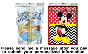 12 Mickey Mouse Birthday Party Capri Sun Stickers Labels Red Black Baby Shower