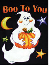 """New listing *New* """"Boo To You"""" Halloween Ghost Applique Large House Flag"""