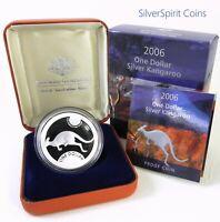 2006 KANGAROO SILVER PROOF 1oz Coin