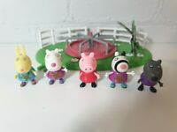 Peppa Pig roundabout Playground Park Play Set With 5 Figures Bundle