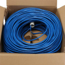 CAT 6 ETHERNET LAN CABLE 100M 100 METER 333FT BOXPACK BLUE Pure copper