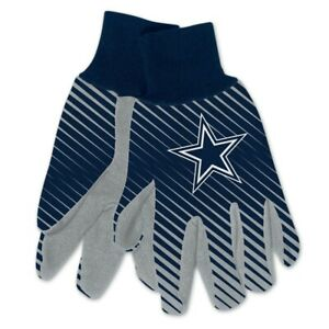 DALLAS COWBOYS STRIPED UTILITY GRIPPER DOTS GLOVES NEW WINCRAFT