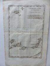 Kanarische Inseln Isles Canaries Madere Porto Santo map 1780
