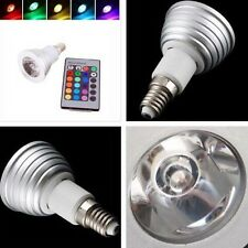 Remote Control E14 3W LED RGB Magic Light Bulb 16 Colors Changing Lamp With IR