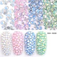 3D Opal Nail Art Rhinestones Multi-size Crystal Glass Gems Glitter Decoration