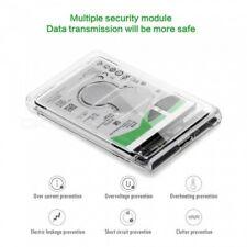 New 2.5 inch Transparent USB3.0 HDD Case Tool Free UASP Hard Drive Enclosure USA