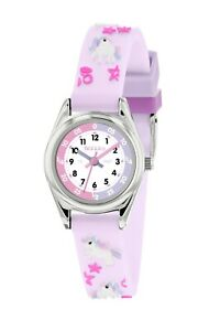 Tikkers Lilac Pony Theme Time Teacher 3D Rubber Strap Watch - NTK0025