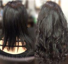 16'' AAAAA Remy Flip In/Halo Hair Extensions Off Black %100 human hair 100 Grams