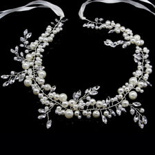 Bridal Wedding Flower Crystal Pearl Crown Hair Tiara Headband Tiara Prom Pageant