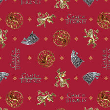HBO Game of Thrones You Win Or You Die 100% Cotton Fabric by the yard