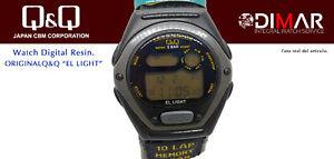 Vintage Watch Q&Q The Light. 9916, Wr 5m. Lap Memory 10. (M106 004)
