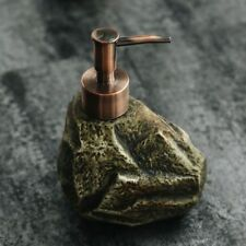 Creative Ceramics Vintage Stone Shampoo Bottle Body Liquid Soap Lotion Dispenser