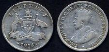 AUSTRALIA 6 Pence 1914 AG