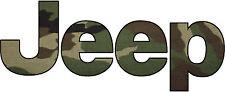 Jeep Camo Decal/Sticker 1X3 FREE SHIPPING!!