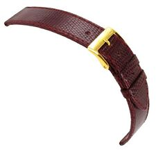 19mm Morellato Genuine Lizard Bordeaux Flat Stitched Watch Band Regular 858