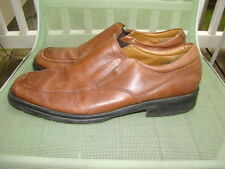 """BORELLI """" BROADWAY """" COGNAC BROWN LEATHER CASUAL LOAFERS SHOES MENS SIZE 13 M"""