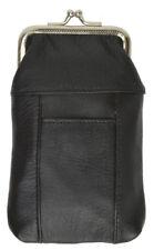 Black Cigarette Soft Leather Case pouch Lighter Holder Men Lady US SELLER