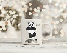Motivational Mug Positvie Yoga Meditation Funny Panda Inner Peace Cute gift