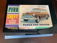 Vintage Pyro 1952 Ford Chevy CUSTOM WAGON MODEL KIT. BUILT 11316