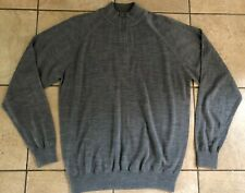 Ping Golf Mens Half-Zip Merino Wool Sweater-Grey Marl-Large-Nwot