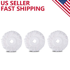 3PC Replacement Microfiber Mop Head Refill For Spin Mop 360°  Easy Cleaning USA