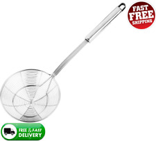 Solid Stainless Steel Spider Strainer Skimmer Ladle for Cooking and Frying...