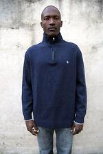 Armata di Mare made in Italy Wolle Nylon Sweater Pullover Strick Hoher Kragen XXL SLIM