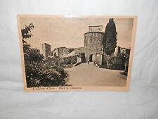 Vecchia cartolina foto d epoca di S Quirico d'Orcia porta ai cappuccini veduta