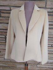 NWOT Yansi Fugel Sz S Open Front Jacket Alpaca Wool Plush Yellow Gold