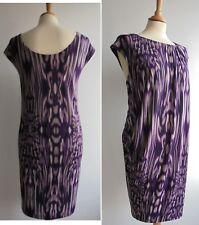 LINEA Purple Jersey Shift Dress Size 16