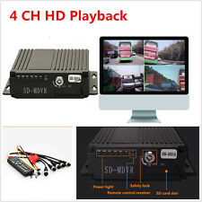 12V 4CH pal/ntsc auto camion mobile hd dvr realtime video/audio recorder SW-0001A