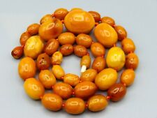 Old, Real, Antique, Huge, Natural Amber Necklace / Chain / Prayer Beads / 45 Gr