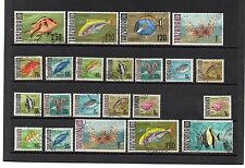 TANZANIA FISH Definitives 22 Stamps assembly USED to include Reprints.