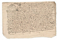 1697 LOUIS XIV royal notary signed manuscript Amazing authentic SIGNATURES