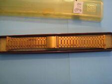 """Bracelet montre VINTAGE en acier de marque """"ZRC"""" extra plat couleu OR lot N°06"""