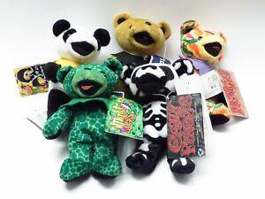 "Lot Of 5 Liquid Blue Steve Smith Grateful Dead Stuffed Teddy Bears 7"""