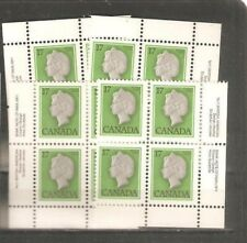pk36352:Stamps-Canada #789 Queen Elizabeth PL1 17 cent Set of Plate Blocks-MNH