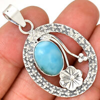 Larimar 925 Sterling Silver Pendant Jewelry AP8761