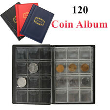 120 Coins Holder Collection Storage Bag Collecting Money Penny Pocket Album Book