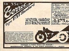 DIJON MOTO MOTORCYCLE TERROT HST STANDARD PUBLICITE 1931 ?