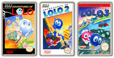 ADVENTURES OF LOLO 1-2-3 NINTENDO NES COLLECTION OF 3 MAGNETS IMANES NEVERA