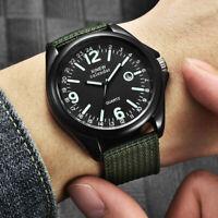 Männer Armee Militär Quarzuhr Nylon Strap Alloy Fall Datum Sport Armbanduhr