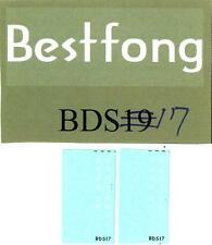 Bestfong Decals 1/72 M60 TANK WHITE WARNING MARKINGS Republic of China Army