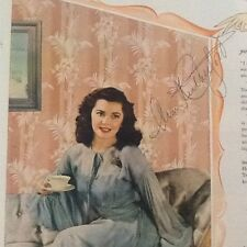 Ann Rutherford SIGNED 1945 Wallpaper Ad  GWTW Star  MGM