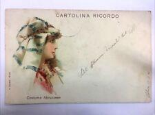 CARTOLINA RICORDO - Abruzzo - COSTUME ABRUZZESE 1903 12/17